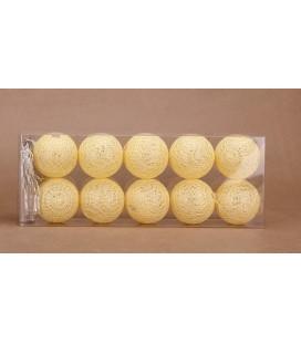 Cotton Ball 6cm Yellow