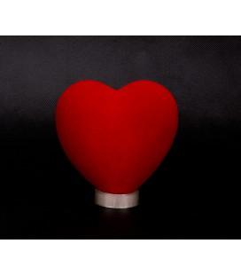 Flokowane Serce Styropianowe  12/11cm