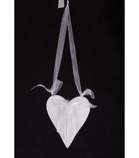 Serce Drewniane z Fiolką 64/17cm