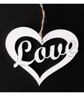 Serce z Napisem Love Zawieszka 15/12cm