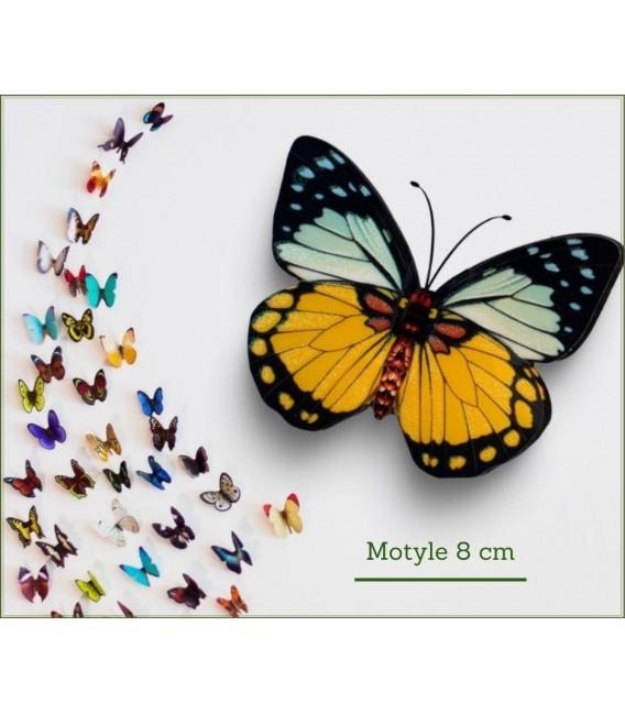 MOTYLE 8CM KLIPS S/12