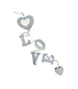 """Girlanda Serce z Napisem """"Love"""" 67,5/10cm"""