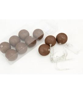Cotton Ball 6cm Dark Brown