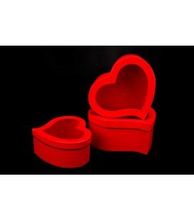 Pudełko Serce S/3 RED